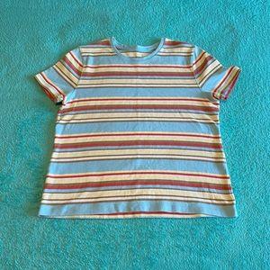 Blue Striped Super Soft T Shirt